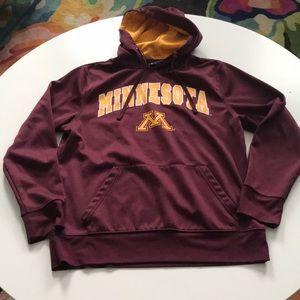 Campus Gear Minnesota hoodie red gold medium